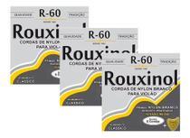 Kit 3 Encordoamentos Violão Nylon Rouxinol R60 Tensão Média -