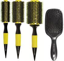 Kit 3 Escovas Thermal Ceramic Premium + Escova Raquete Hairstyle - Marco Boni