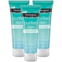Kit 3 Esfoliante Facial Neutrogena Purified Skin 100g -