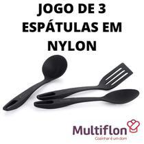 Kit 3 espátulas em nylon para cozinhar - Multiflon