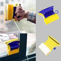 Kit 3 Esponja Rodo Limpador de Vidro Magnético para Janela Box Aquário Limpa Vidro Com Imã Magnético -