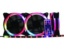 Kit 3 Fans AF-J1225 K-mex Cooler Speed Control Argb Rainbow -