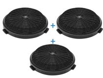 KIT 3 Filtro Carvão Ativ. Coifa Electrolux 90cv 90ct E251005 -