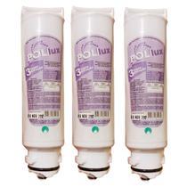 Kit 3 Filtro Refil Para Purificador de Água Electrolux PA10N, PA20G, PA25G, PA30G e PA40G - Policarbon