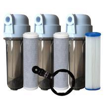Kit 3 Filtros 1 Lavavel de polipropileno e 2 filtros de Carvão Ativado - VIROBAZAR