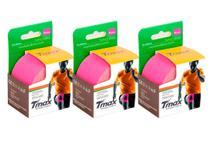 Kit 3 Fitas de Kinésio Bandagem Adesiva Tmax - Rosa - Bioland