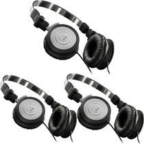 Kit 3 Fones de Ouvido Profissional AKG K414 P Mini Headphone Dobrável Para Retorno de Palco P2 K414P -