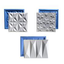 Kit 3 Formas Gesso Plástico & Eva Placa 3D - Xmoldes Formas 3D