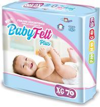 Kit 3 Fralda Descartável Baby Felt Noturna Infantil XG - 70 Unidades Atacado Barato -
