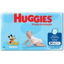 KIT  3 Fralda Descartável Huggies M com 126 Unid + toalha umidecida com 96- Huggies -
