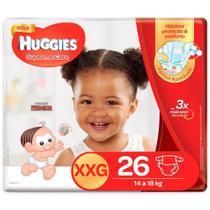 Kit 3 Fralda Descartável Infantil Mônica Supreme Care XXG 26 unidades - Huggies