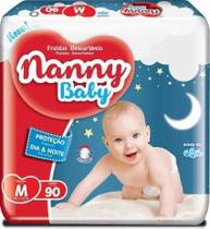 KIT 3 FRALDA INFANTIL NANNY BABY M 90 = 270 un -