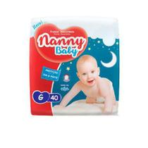 KIT 3 FRALDA INFANTIL NANNY BABY PRATICA G 40 = 120 un -