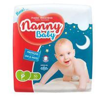 KIT 3 FRALDA INFANTIL NANNY BABY PRATICA P 50 = 150 un -