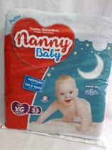 KIT 3 FRALDA INFANTIL NANNY BABY PRATICA XG 35 = 105 un -