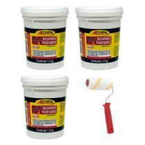 Kit 3 Gel Decapante Allchem Limpa Inox 1,2 Kg + Rolo 9cm - Allchem Quimica