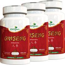 Kit 3 Ginseng Renshen (Panax) 400 mg 60 Capsulas Katigua -