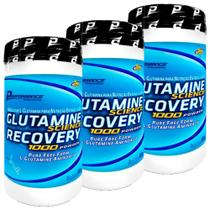 Kit 3 Glutamine Science Recovery Powder 600g Performance - Performance Nutrition