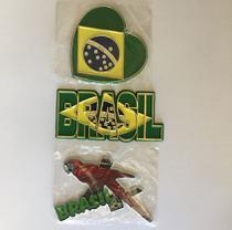 Kit 3 ímãs Brasil - Criativos