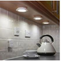 Kit 3 Lampadas Led Luminária Armário Quarto Escada Closet Gaveta Espelho Corredor Spot Controle Remoto Sem Fio - Luz