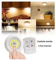 Kit 3 Lampadas Luminaria Led Controle Remoto Sem Fio spot - Led Light
