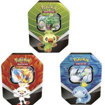 Kit 3 Latas Pokémon Parceiros De Galar Originais - Copag -