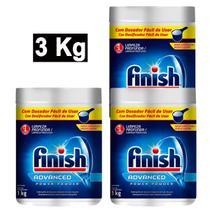 Kit 3 Lava Louças em Pó FINISH Power Powder 1kg -