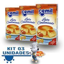 Kit 3 Leite Condensado Cemil 395g -