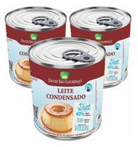Kit 3 Leite Condensado diet SÃO LOURENÇO 335g -