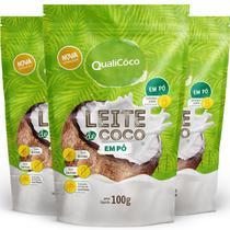 Kit 3 Leite de coco em pó Qualicôco 100g - Qualicoco