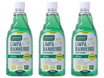 Kit 3 Limpa Banheiro Ecológico Vegano Eucalipto Biowash 650m -
