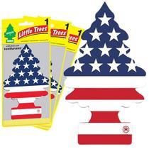 Kit 3 Little Tree Aromatizante Auto Cheirinho 100% USA Pride - Gastaki