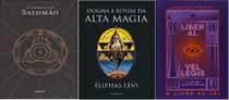 KIT 3 LIVROS A CLAVICULA DE SALOMÃO + O Livro da Lei Liber Al Vel Legis + Dogma e Ritual da Alta Magia - Chave