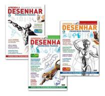kit 3 livros Aprenda A Desenhar Primeiros Passos Coleção Completa -