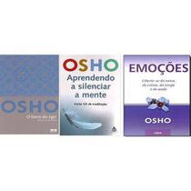 Kit 3 Livros Osho Ego Emoçoes Aprender Silenciar A Mente - Bestseller