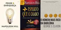 KIT 3 LIVROS PENSE E ENRIQUEÇA + Mais esperto que o Diabo + O homem mais rico da Babilônia - Bestseller