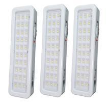 Kit 3 luminárias Luz de emergência com 30 LED Bivolt - Tsa