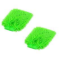 Kit 3 Luvas De Microfibra Lavar Carro E Limpeza Doméstica - Não Informada