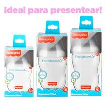 Kit 3 Mamadeira First Moments 50/250/330ml Fisher Price Anti Colica -