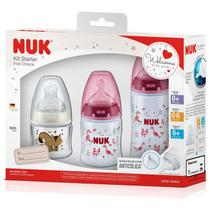Kit 3 Mamadeiras Starter 90 + 150 +300ml - Nuk -