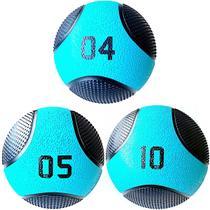 Kit 3 Medicine Ball Liveup PRO 4 5 e 10 kg Bola de Peso Treino Funcional LP8112 -