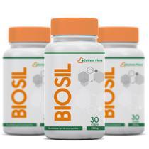 Kit  3 meses Biosil 300mg 30 Cápsulas - Extrato Flora