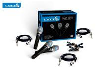 Kit 3 Microfones com fio LYCO SMP10P3 preto -