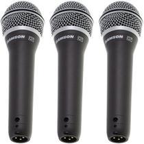 Kit 3 Microfones Dinâmico Cardióide Q7 Samson -