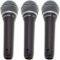 Kit 3 Microfones Dinâmico Super Cardióide Xlr Q7 Samson -
