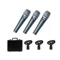 Kit 3 microfones lyco smp20p3 -