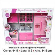 Kit 3 Módulos Minha Cozinha c/ Geladeira Fogão e Pia My Home Infantil Toys e Toys - Toys  toys