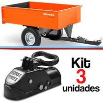 Kit 3 Munheca Engate Carretinha Reboque Munhequeira Trava De Segurança Monheca - Usinagem