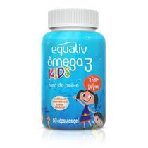 Kit 3 Ômega 3 Pro Kids Equaliv 60 cápsulas Sabor Laranja -