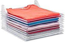 Kit 3 Organizadores De Roupas Camiseta 10 Divisorias Camisa Guardar Dobrado - SM